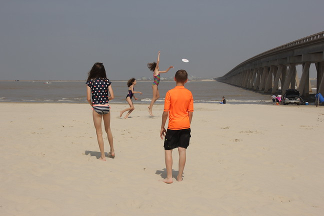 Frisbee at the Beach